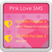 GO SMS Pro Pink Love