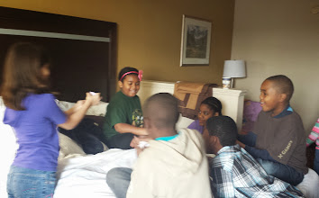 Photo: card games this morning