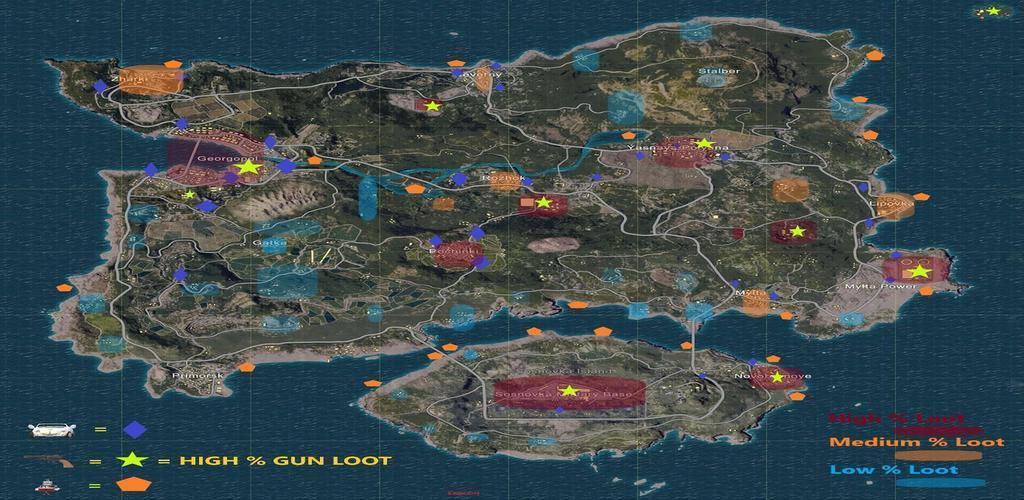 Playerunknown S Battlegrounds Maps Loot Maps Pictures: Download Mapa Pubg Ilha De Locais De Loot Erangel Apk