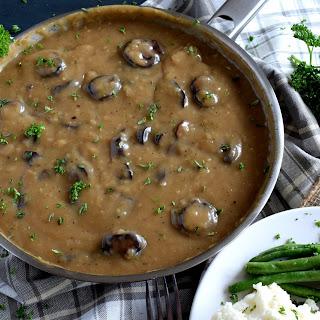 Vegetarian Mushroom Gravy.