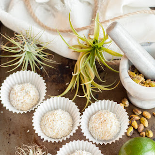 Coconut Truffles with Pistachios