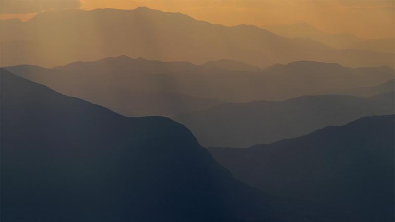 Vista dalla Majella al tramonto di fernando rugge