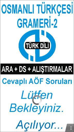 AÖF OSMANLI TÜRKÇESİ GRAMERİ-2