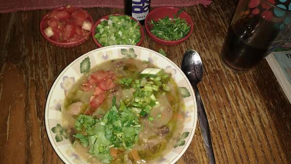 Bean Soup With Garnishes