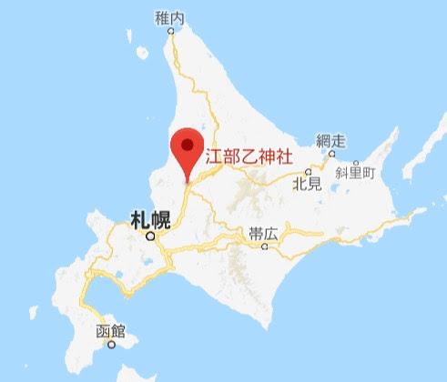 地図:江部乙神社