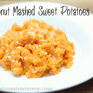 Coconut Mashed Sweet Potatoes.
