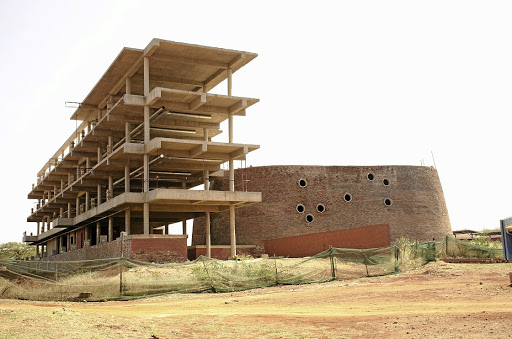 The abandoned, half-built, health sciences building at the University of Venda, in Thohoyandou. It is expected to be completed next year for an additional R18.7-million.