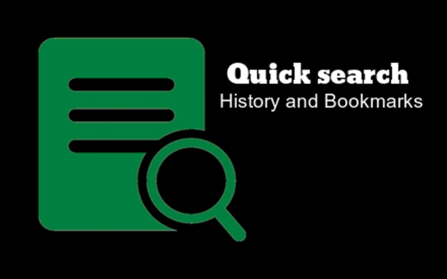 Quick history and bookmark URL search