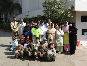 Photo: A Group Photo of the Participants from Sindh Education Foundation Child Development Centre with LC Coordinator at Rangoonwala Community Centre, International Wetland Day Feb 02, 2008