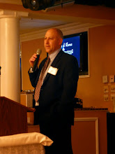 Photo: Barry Fields, VP of JGS Insurance, gave an overview of the Affordable Care Act.