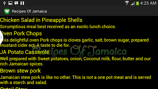 Recipes Of Jamaica screenshot