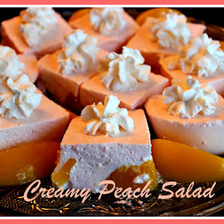 Creamy Peach Salad!