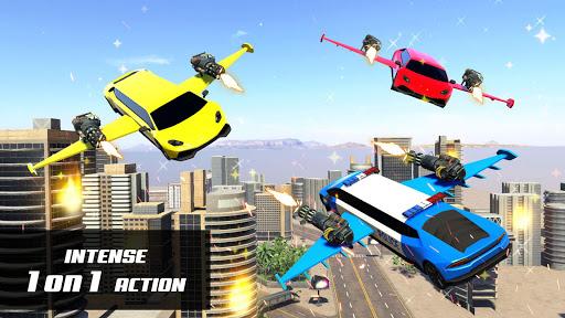 Flying Police Limo Car Robot: flying car games screenshot 3