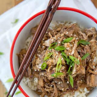 Slow Cooker Garlic & Brown Sugar Teriyaki Pork Loin.