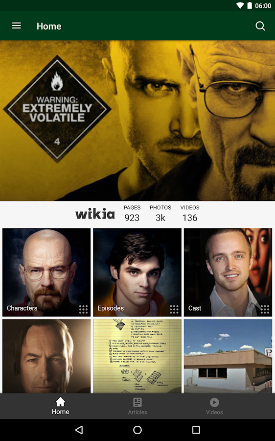 Wikia: Breaking Bad – Screenshot