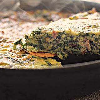 Leftover Ham & Spinach Frittata