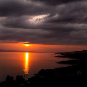 Sunset in Croatia by Ivica Bajčić - Landscapes Sunsets & Sunrises ( europe, klenovica, sunset, croatia, visitcroatia, lovecroatia, photography )