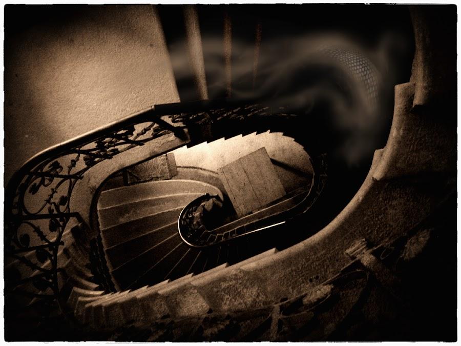 by Veronica Gafton - Digital Art Places ( stairs, dark )