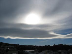Photo: Wave cloud over Wellington - 3:56pm, 19-Sep-03