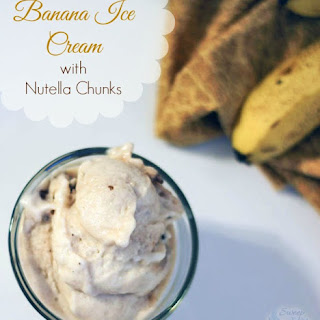 Banana Ice Cream Recipe with Nutella Chunks