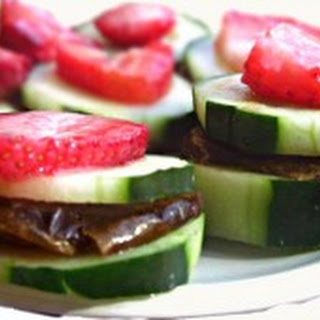 Raw Cucumber Tea Sandwiches.