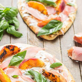Grilled Peach, Prosciutto and Goat Cheese Pizza Recipe