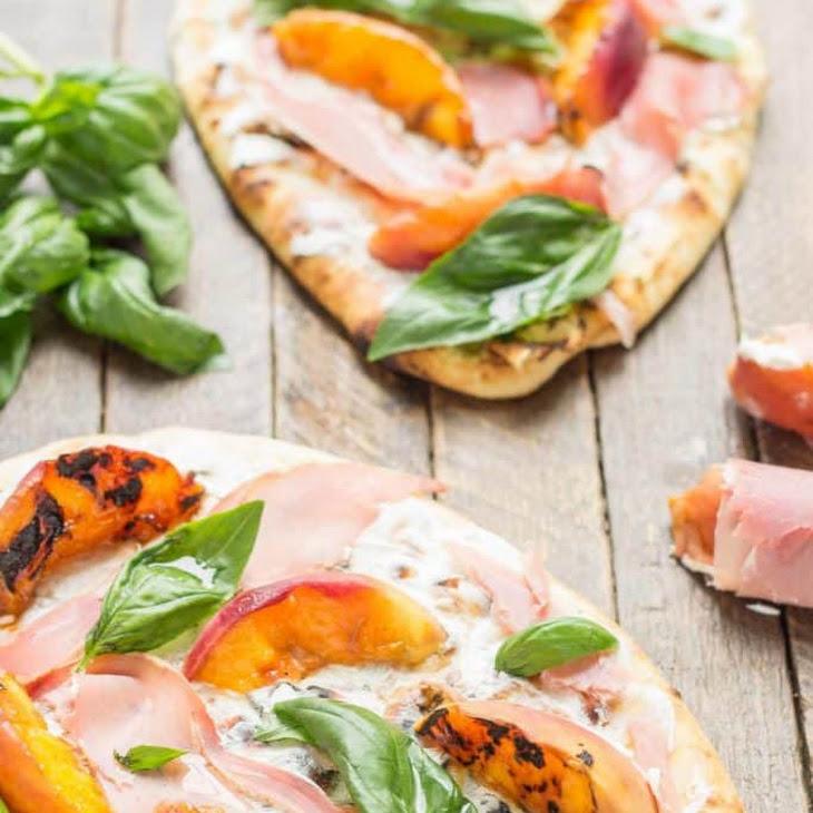 Grilled Peach, Prosciutto and Goat Cheese Pizza Recipe