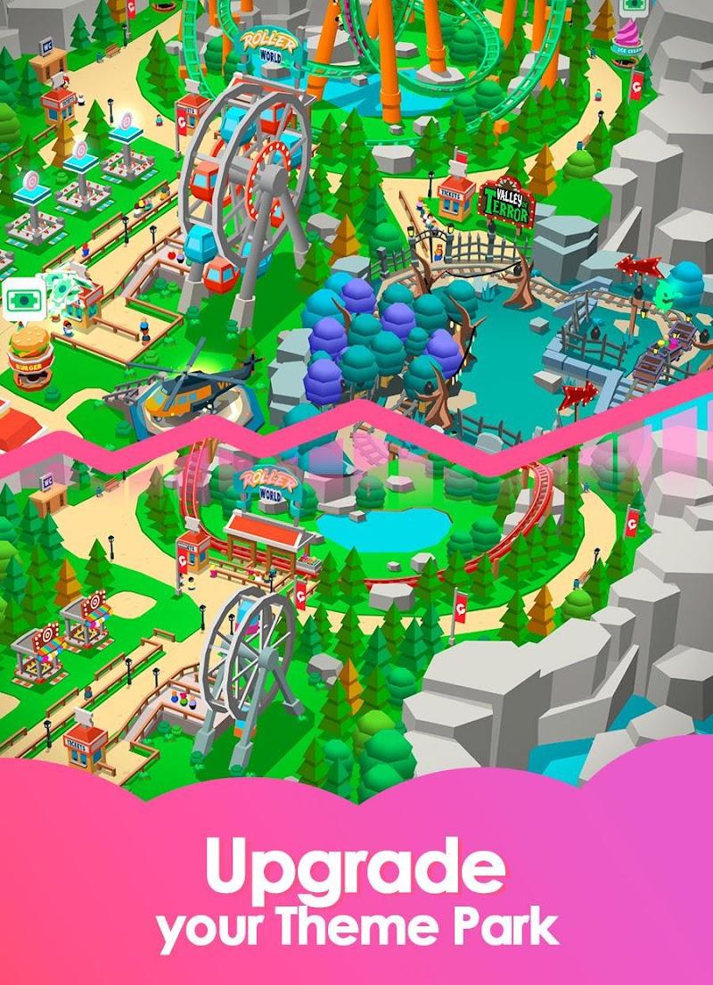Idle Theme Park Tycoon - Recreation Game Screenshot 3