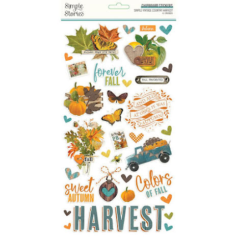Simple Stories Chipboard Stickers 6X12 - SV Country Harvest