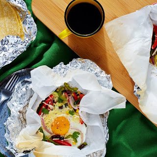 Breakfast Taco Hobo Packs with Black Beans, Zucchini, and Corn