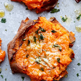 Baked Sweet Potatoes Garlic Butter Recipes