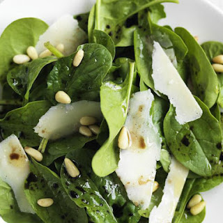 Baby Spinach and Parmesan Salad