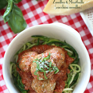 Zoodles and Meatballs.