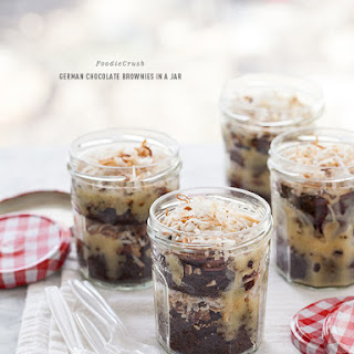 German Chocolate Brownies In a Jar