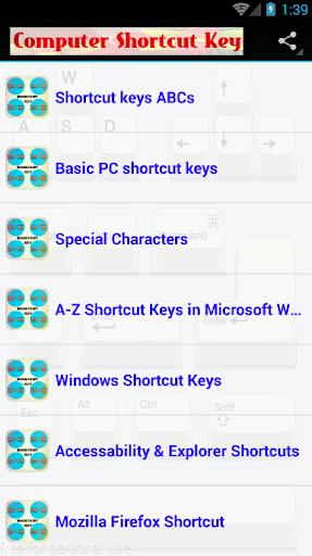 Computer Shortcut Keys ss1