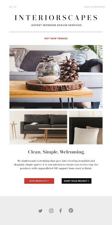 Interiorscapes Trends - Medium Email Template