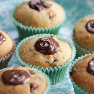 Choc-Hazelnut-Stuffed Chocolate Chip Muffins.
