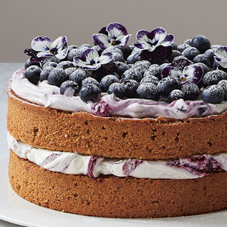 A Lemony Hazelnut & Blueberry Cake from Amber Rose's 'Love, Bake, Nourish'