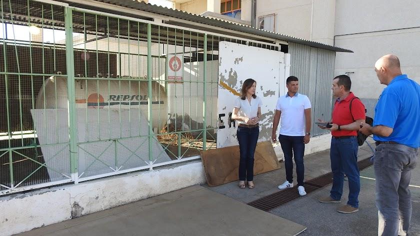 La alcaldesa Francisca Fernández y el edil Alejandro Campos