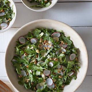 Baby Arugula with Radishes & Hazelnuts