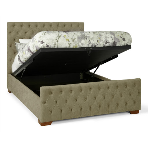 Serene Lillian Ottoman Bed Frame Fudge