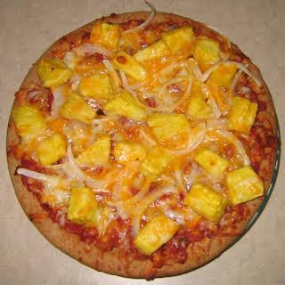Vegetarian Hawaiian Pizza.