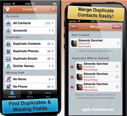 Free Address Book Cleaner iphone ipod ipad