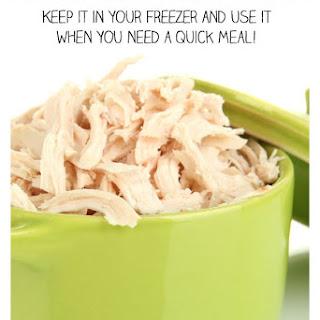 Make-Ahead Shredded Chicken (Freezer Meal)