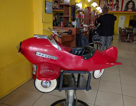 Photo: I remember getting a haircut in one of these when I was a kid growing up in New York