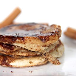 Skinny Sticky Cinnamon Sugar Pancakes with Vanilla Glaze