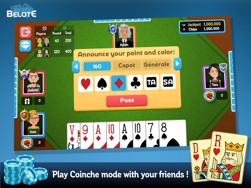 Multiplayer Belote & Coinche android2mod screenshots 14