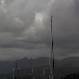 Boats on lake windermere uk by Andrew Lancaster - Transportation Roads ( countryside, water, clouds, sky, waterscape, sailing, boats, wave, ripple, lake, beauty, boat, lake district )