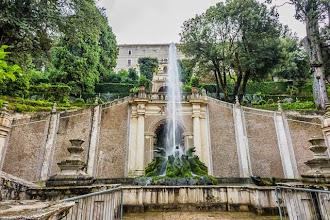 """Photo: Fountain of the Dragons """"Fontana dei Draghi"""" in Villa d'Este in Tivoli, Lazio, Italy"""