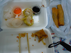 Photo: Breakfast in room: Shrimp dumplings, sui mai, fried curry rolls